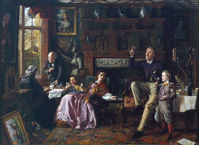 Robert Braithwaite Martineau. 'The Last Day in the Old Home' 1862