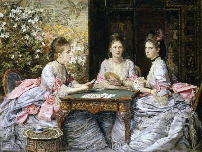 Sir John Everett Millais, Bt 'Hearts are Trumps' 1872