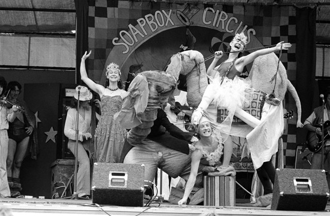 Ponch Hawkes. 'Soapbox Circus - The Fabulous Spagoni Family' c. 1977