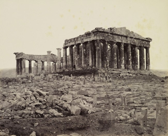Francis Bedford (1815-94) (photographer) 'South West View of the Parthenon [on the Acropolis, Athens, Greece]' 31 May 1862