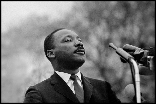 Stephen Somerstein. 'Dr. Martin Luther King, Jr. speaking to 25,000 civil rights marchers in Montgomery' 1965