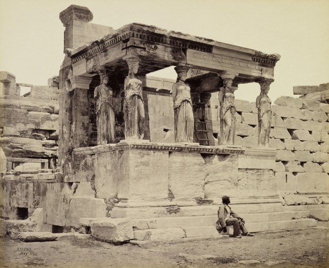 Francis Bedford (1815-94) (photographer) 'The Caryatid porch of the Erechtheum [Athens, Greece]' 30 May 1862