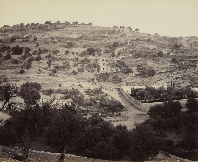Francis Bedford (1815-94) (photographer) 'The Mount of Olives and Garden of Gethsemane [Jerusalem]' 2 Apr 1862