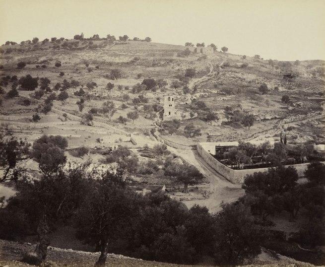 Francis Bedford (1815-94) (photographer) 'The Mount of Olives and Garden of Gethsemane [Jerusalem]' 2 Apr 1862