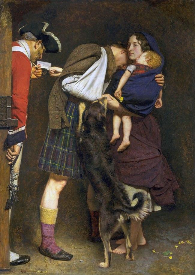 Sir John Everett Millais, Bt. 'The Order of Release 1746' 1852-3