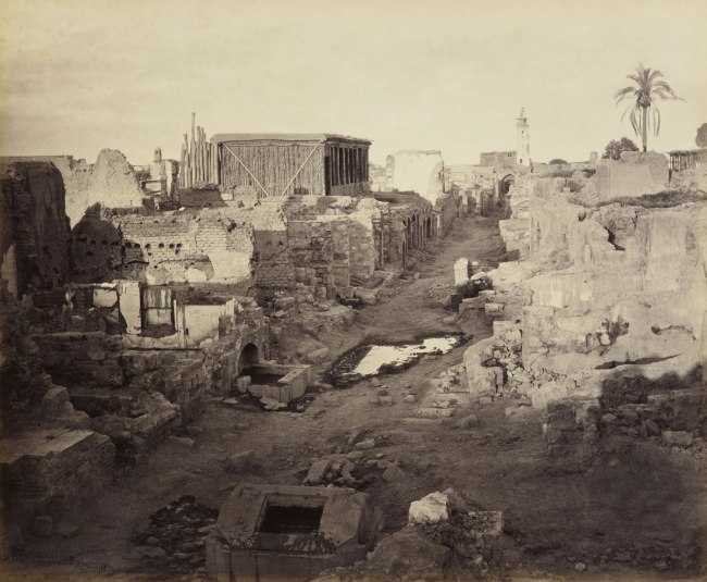 Francis Bedford (1815-94) (photographer) 'The Street called Straight, Damascus' 30 Apr 1862