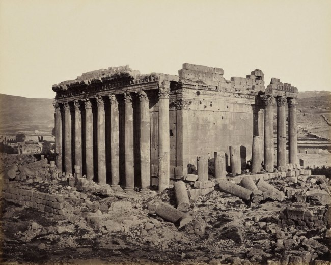 Francis Bedford (1815-94) (photographer) 'The Temple of Jupiter from the north west [Baalbek, Lebanon]' 3 May 1862