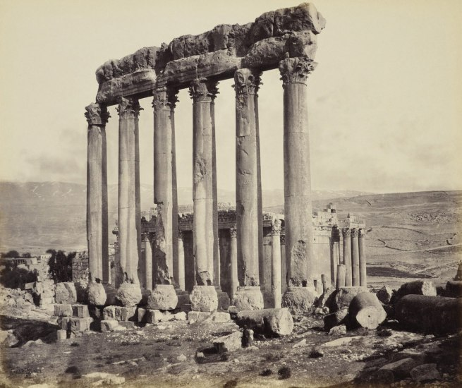 Francis Bedford (1815-94) (photographer) 'The Temple of the Sun and Temple of Jupiter [Baalbek, Lebanon]' 4 May 1862