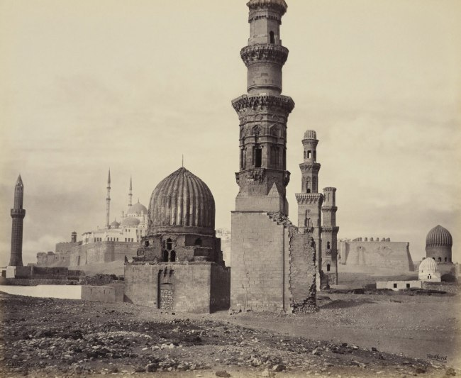 Francis Bedford (1815-94) (photographer) 'Tombs of the Memlooks at Cairo [Mausoleum and Khanqah of Emir Qawsun]' 25 Mar 1862