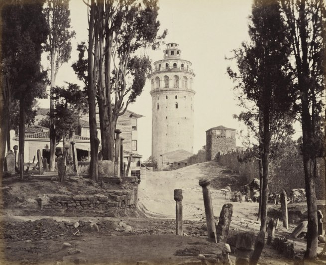Francis Bedford (1815-94) (photographer) 'Tower of Galata and part of Turkish burial ground [Istanbul, Turkey]' 21 May 1862