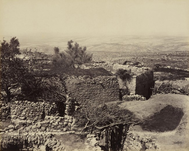 Francis Bedford (1815-94) (photographer) 'Upper Bethoron [Beit Ur al-Foqa and the Valley of Ajalon]' 31 Mar 1862