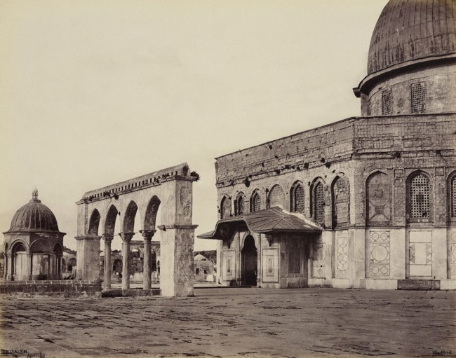 Francis Bedford (1815-94) (photographer) 'West Front of the Mosque of Omar [Dome of the Rock, Jerusalem]' 1 Apr 1862