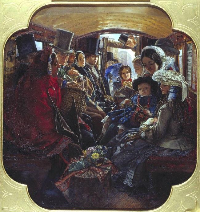 William Maw Egley. 'Omnibus Life in London' 1859