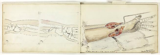 Ivan Albright. 'Medical Sketchbook' 1918