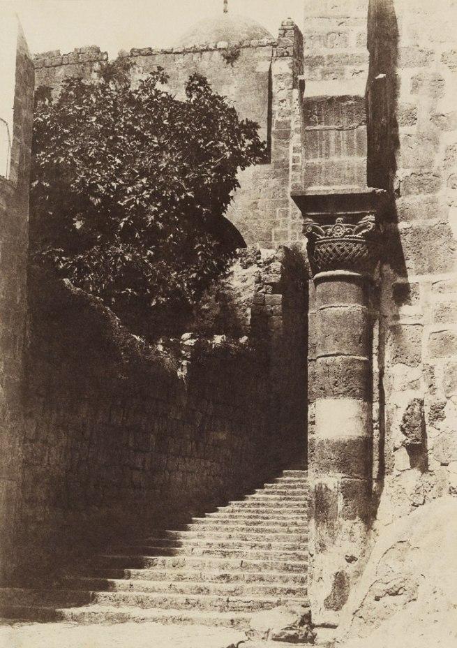 Auguste Salzmann (1824-1872) 'Jerusalem, Sainte Sepulchre, Colonne du Parvis' 1854