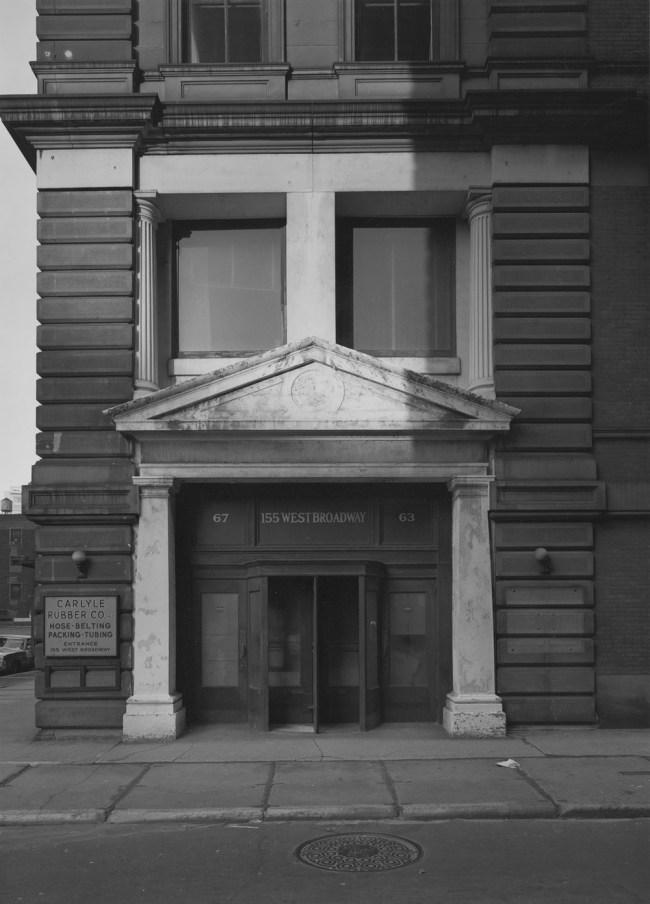 Bevan Davies. '155 West Broadway, New York' 1975