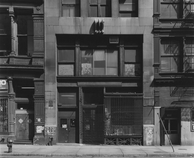 Bevan Davies. '652 Broadway, New York' 1976
