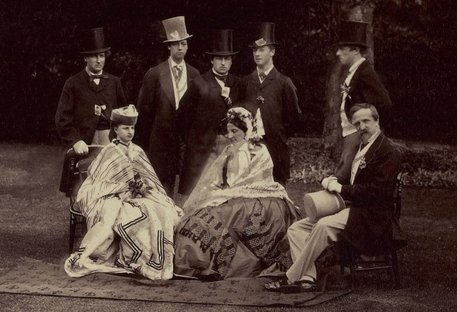 Camille Silvy. 'Group of their Royal Highnesses the Princess Clementine de Saxe Cobourg Gotha, her Sons and Daughter, the Duke d'Aumale, the Count d'Eu, the Duke d'Alencon, and the Duke de Penthievre [in England]' 1864
