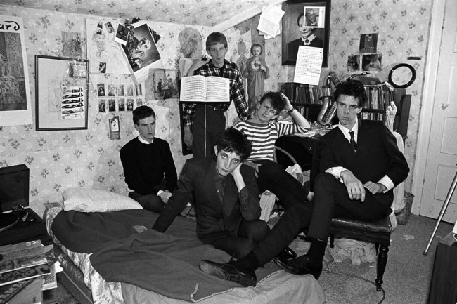 Peter Milne. 'Boys Next Door first photo session after Rowland joined. Nick's bedroom, Caulfield' c. 1978