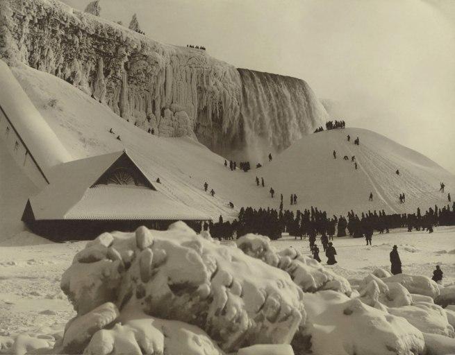 Herman F. Nielson. 'View of Niagara Falls in Winter' c. 1885