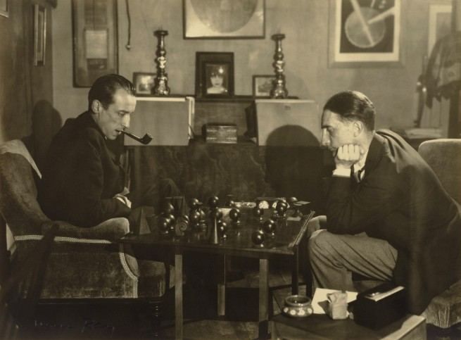 Man Ray. '[Marcel Duchamp and Raoul de Roussy de Sales Playing Chess]' 1925
