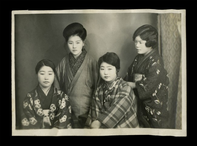 Anonymous. 'Untitled [Four women in traditional Japanese dress]' from a Japanese family photography album c. 1920-30s