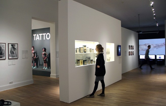 Installation view of the exhibition 'Tattoo' at the Museum für Kunst und Gewerbe Hamburg