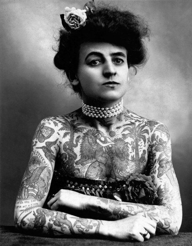 Maud Stevens Wagner, Tattoo Artist (1877-1961, photo from 1907)