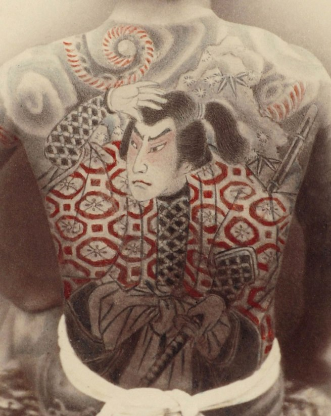 Unknown artist. 'Tattooed Man' 1880-1890 (detail)