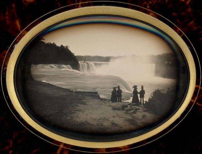Platt D. Babbitt. '[Scene at Niagara Falls]' c. 1855