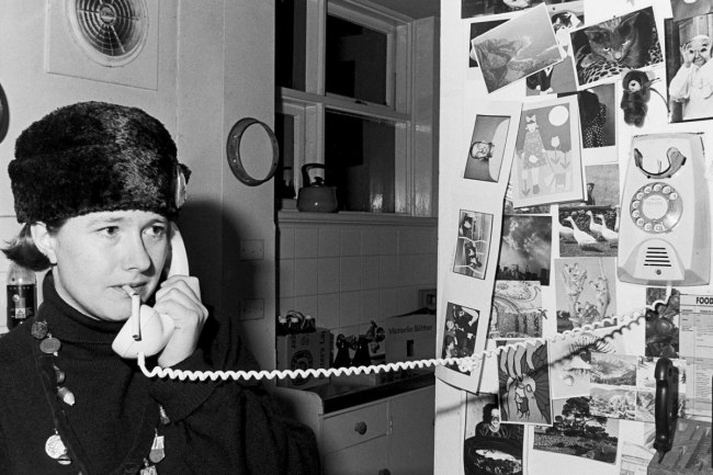 Peter Milne. 'Polly Borland at home' early 1980s
