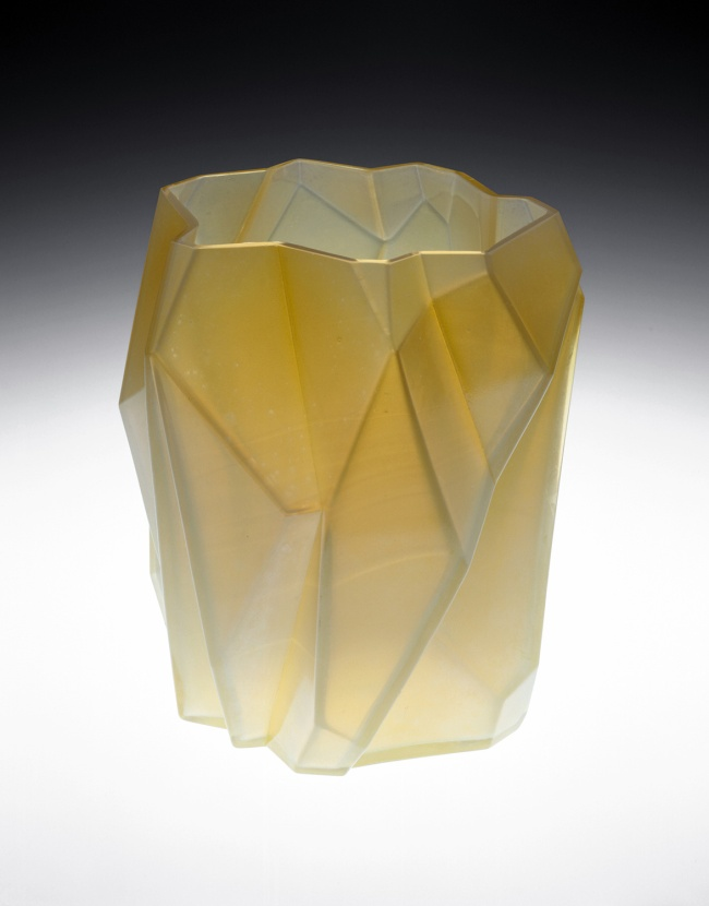 "Designed by Ruben Haley, Made by Consolidated Lamp and Glass Company. ""Ruba Rombic"" Vase, 1928/32"