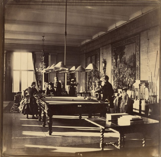 Roger Fenton. 'The Billiard Room, Mentmore' c. 1858