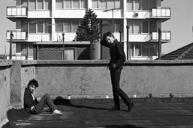 Peter Milne. 'Rowland S. Howard and Genevieve McGuckin, St Kilda rooftop' 1977