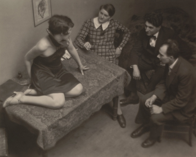 André Kertész. 'Magda, Mme Beöthy, M. Beöthy, and Unknown Guest, Paris' 1926-29