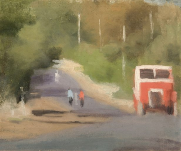 Clarice Beckett. 'The Red Bus' Nd