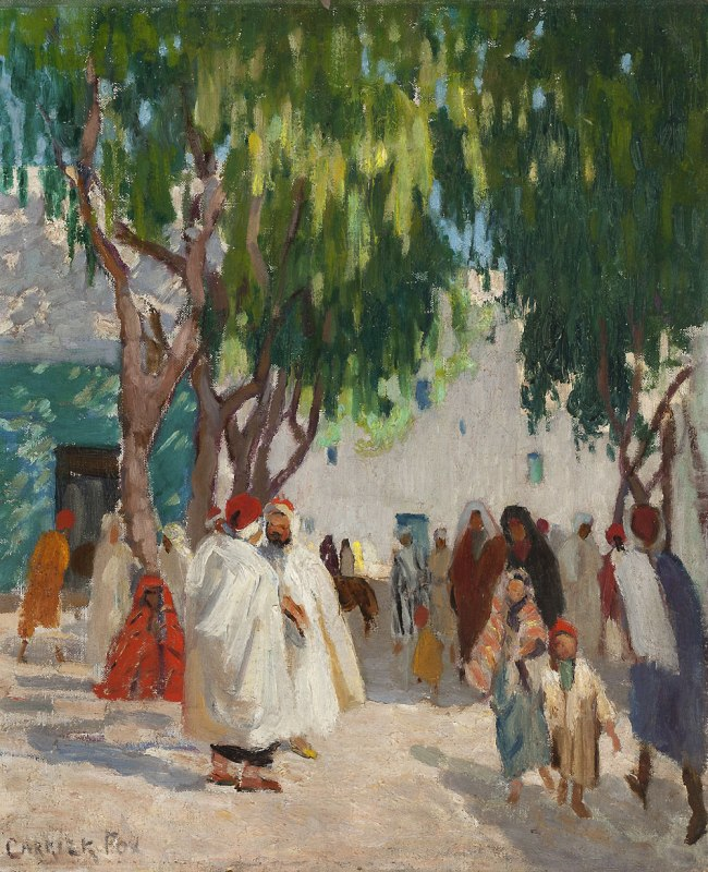 Ethel Carrick. (Arabs Walking Down a Street) Nd