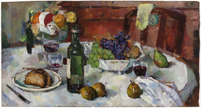 Bessie Davidson. 'Autumn Table at Villeneuve' 1935