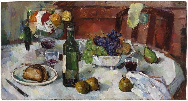 Bessie Davidson. 'Autumn Table at Villeneuve' 1935
