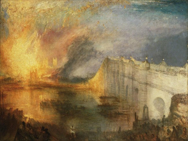 Joseph Mallord William Turner (British, 1775-1851) 'The Burning of the Houses of Lords and Commons, October 16, 1834' 1834-35