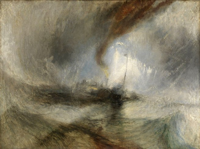Joseph Mallord William Turner (British, 1775-1851) 'Snow Storm: Steam-Boat off a Harbour's Mouth' Exhibited 1842