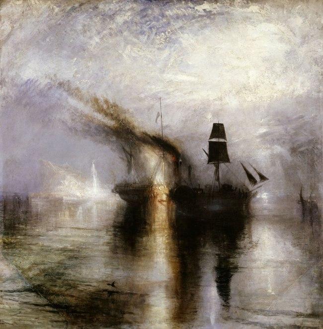 Joseph Mallord William Turner (British, 1775-1851) 'Peace - Burial at Sea' Exhibited 1842