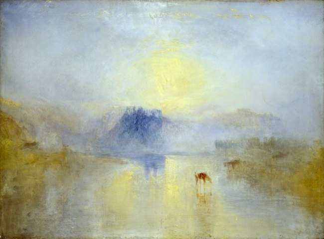 Joseph Mallord William Turner (British, 1775-1851) 'Norham Castle, Sunrise' About 1845