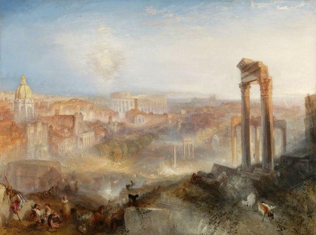 Joseph Mallord William Turner (British, 1775-1851) 'Modern Rome - Campo Vaccino' 1839
