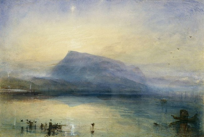 Joseph Mallord William Turner (British, 1775-1851) 'The Blue Rigi, Sunrise' 1842