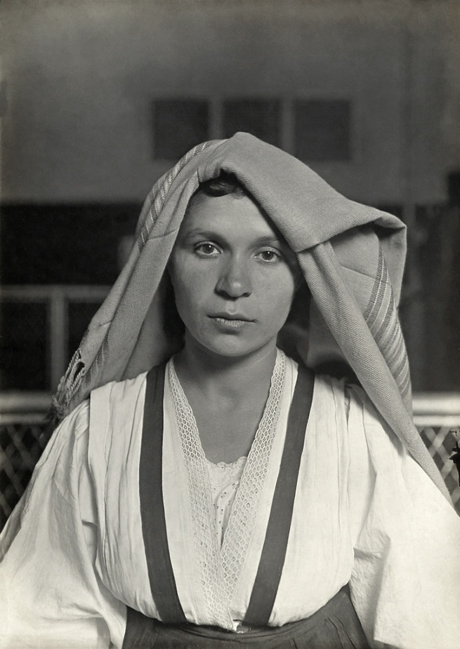 Lewis W. Hine. 'An Albanian Woman from Italy at Ellis Island' 1905