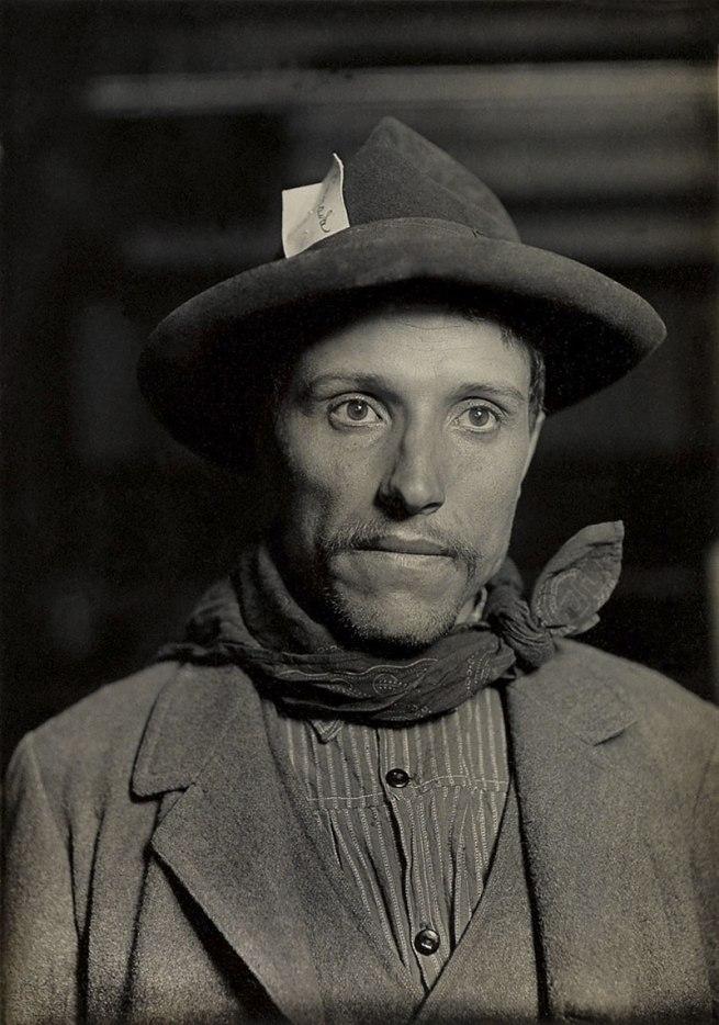 Lewis W. Hine (1874-1940) 'Italian laborer, Ellis Island' 1905-12