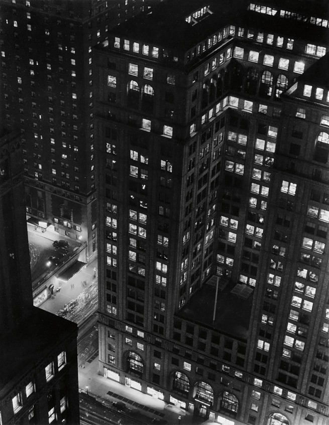 Paul J. Woolf (1899-1985) 'Looking down on Grand Central Station' 1935
