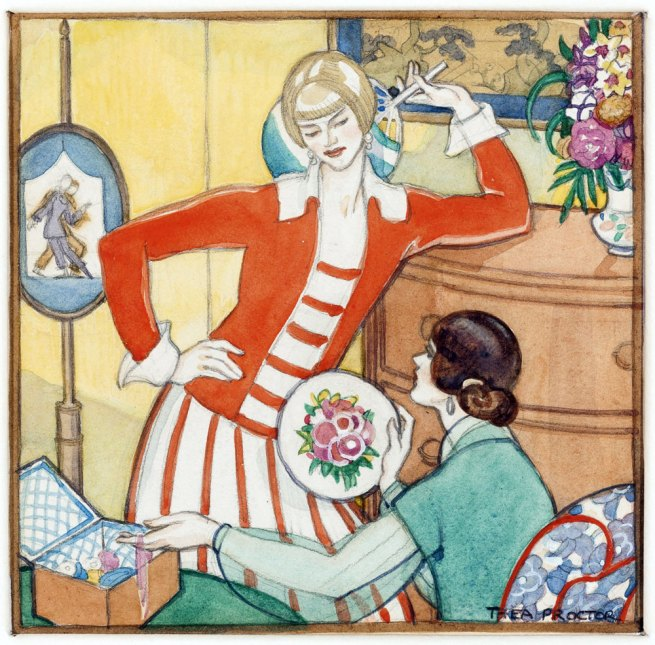 Thea Proctor. 'The Sewing Basket' c. 1926
