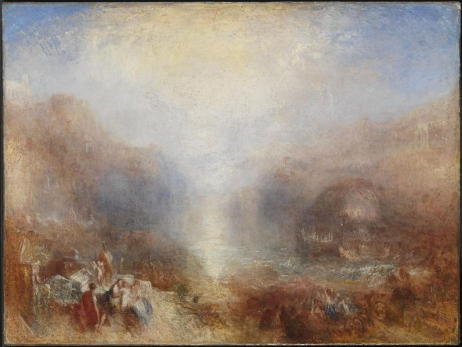 Joseph Mallord William Turner (British, 1775-1851) 'Mercury Sent to Admonish Aeneas' Exhibited 1850